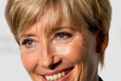 emma thompson brown hair color short pixie haircut 2020