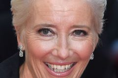 emma thompson grey hair color 2020 short hair cut