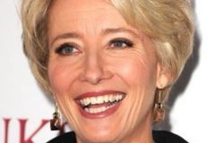emma thompson classic short bob haircut 2019-2020