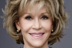 jane fonda balayage short bob style over 60