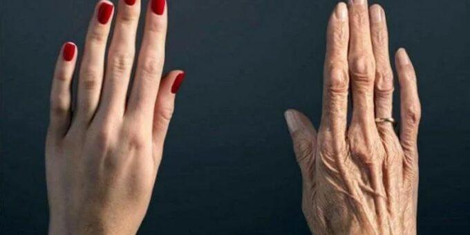 Если кожа рук выглядит старо